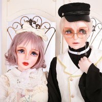 (HD02)HIDOLLS and DMS Crossdress Resin Half Head Female/Male Face Kigurumi Cosplay BJD Mask Crossdresser Doll Transgender Mask