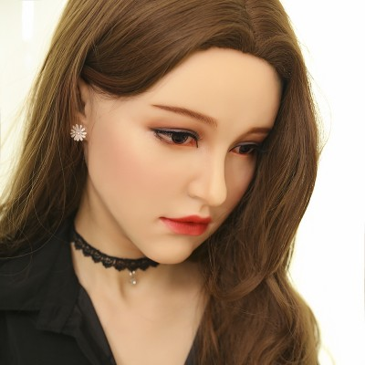 (M10)Fetish Silicone Soft Realistic Transgender Female Full Head Kigurumi Crossdress Doll Mask 'Aglaia' Crossdresser