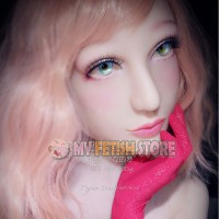 (RB12) Soft Silicone Crossdress Female/Girl/Lady DMS Half Head Mask Rosa With Luxury Custom Makeup 'Pink Baby' Fetish Doll