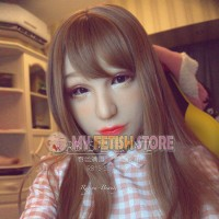 (RB15) Soft Silicone Crossdress Female/Girl/Lady DMS Half Head Mask Rosa With Luxury Custom Makeup 'Spring Girl' Fetish Doll