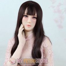 (RB21) Soft Silicone Crossdress Female/Girl/Lady DMS Half Head Mask Rosa With Luxury Custom Makeup 'Desire' Fetish Doll