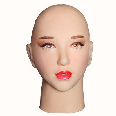 (A1) Quality Handmade Soft Silicone Realist Full Head Female/Girl Crossdress Sexy Doll Face Cosplay Mask