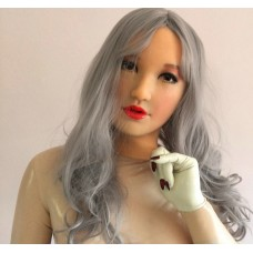 (XINYI) Quality Handmade Soft Silicone Realist Full Head Female/Girl Crossdress Sexy Doll Face Cosplay Mask