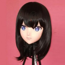 Custom Crossdress Female/Girl Resin 3/4 Head Cosplay Japanese Role Play  Anime  Sagisawa Fumika Kigurumi Mask