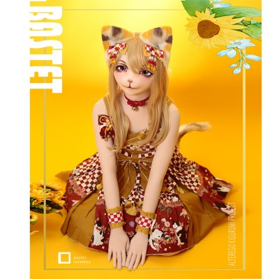 (Bastet)AlterEgo Kigurumi Crossdress Cosplay Japanese Role Play Anime Character Half Head/Full Head Mask Doll With Wig