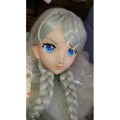 (MSM-01S) Custom Crossdress Female/Girl Resin 3/4 Head Cosplay Japanese Role Play Anime Kigurumi Mask