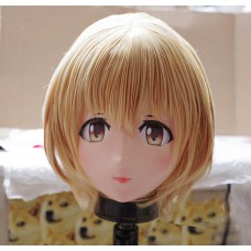 (KM257)Female/Girl Resin 3/4 Head Japanese Cartoon Cosplay Crossdress Kigurumi Mask