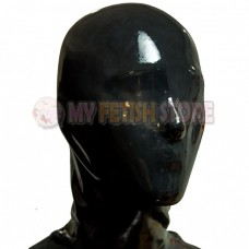 (DM013) Top quality DM 100% natural full head human face without zipper latex mask rubber hood suffocate Mask fetish wear