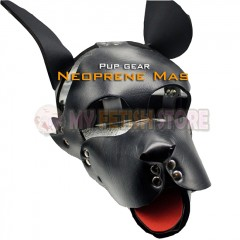 (DM8192)Top quality pup gear neoprenee dog slave mask fetish hood accessory equipment fetish wear