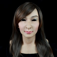 (SF-12) Soft Silicone Realist Human Face Crossdress Full Head Female/Girl Sexy Doll Fetish Mask
