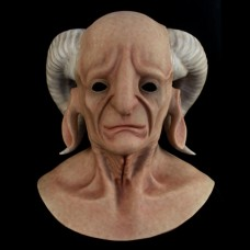 (ALIEN-5) crossdress cosplay realistic face silicone male full head animal goat alien mask for Halloween fetish wear