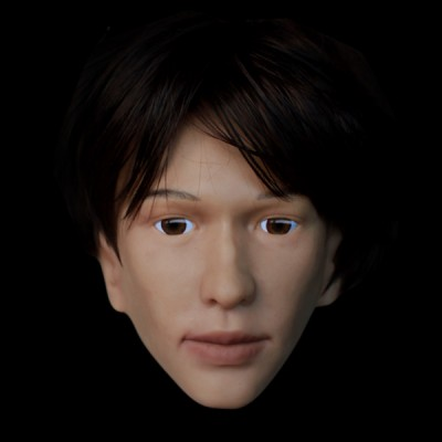 (SH-23) Crossdress male silicone realistic human face half head mask crossdresser doll mask