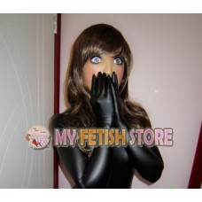 (MW7283) Mywayfashion Luxury Customize Black Shiny Metallic Zentai Suits Fetish Bodysuit