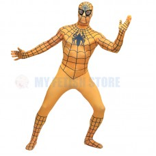 Full Body Orange Spider-man Lycra Spandex Bodysuit Cosplay Zentai  Suit Halloween Fancy Dress Costume