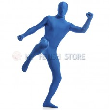 Full Body blue Lycra Spandex Bodysuit Solid Color Zentai  suit Halloween Fancy Dress Costume