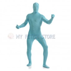 Full Body  Sky blue Lycra Spandex Bodysuit Solid Color Zentai  suit Halloween Fancy Dress Costume